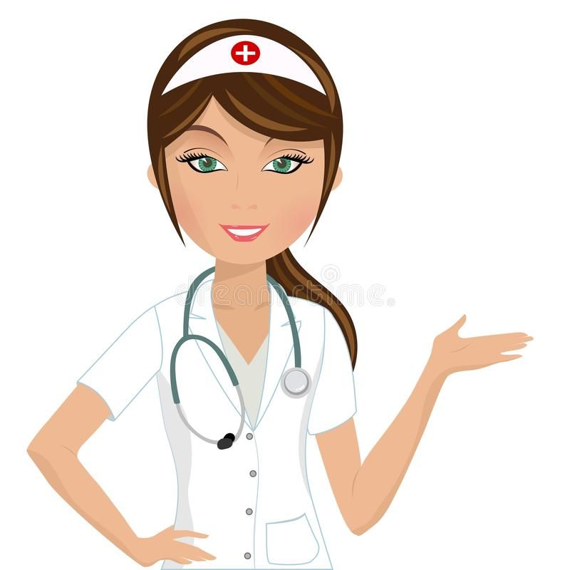 Beautiful nurse presenting illustration of a female nurse