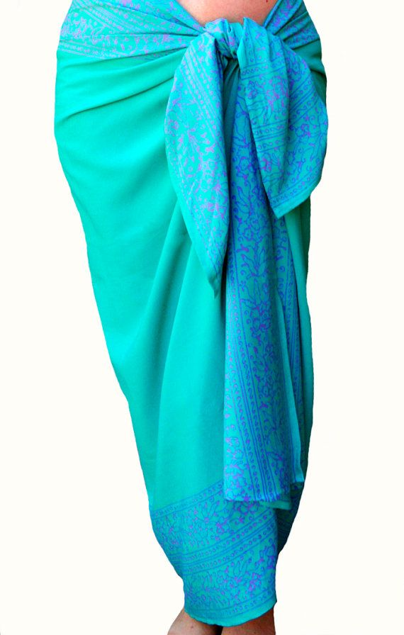 d399a96f13 PLUS SIZE Womens Clothing Sarong Wrap Skirt or Dress Swimsuit Cover Up Sea  Green Beach Sarong Batik Pareo Extra Long Plus Size Swimwear