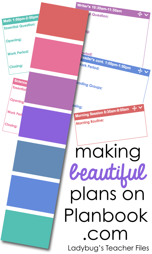 Making Beautiful Plans On Planbook Com Part 1 Teacher Files Ladybug Teacher Files Teacher Planning