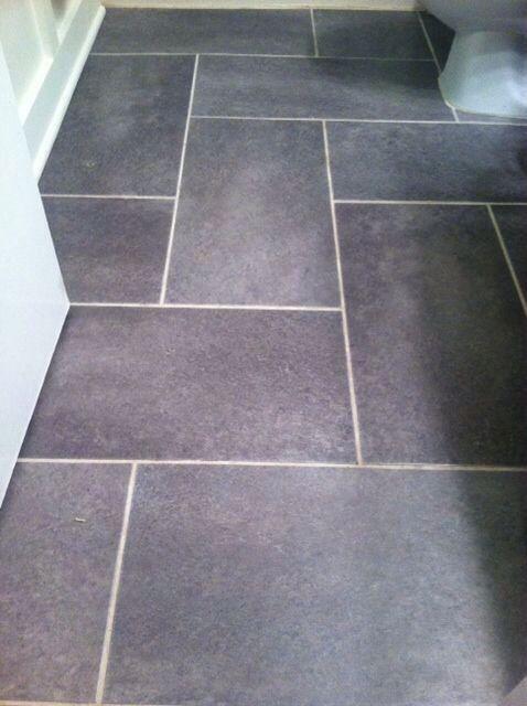 New Slate Bathroom: Like This Pattern For Narrow Bathroom..