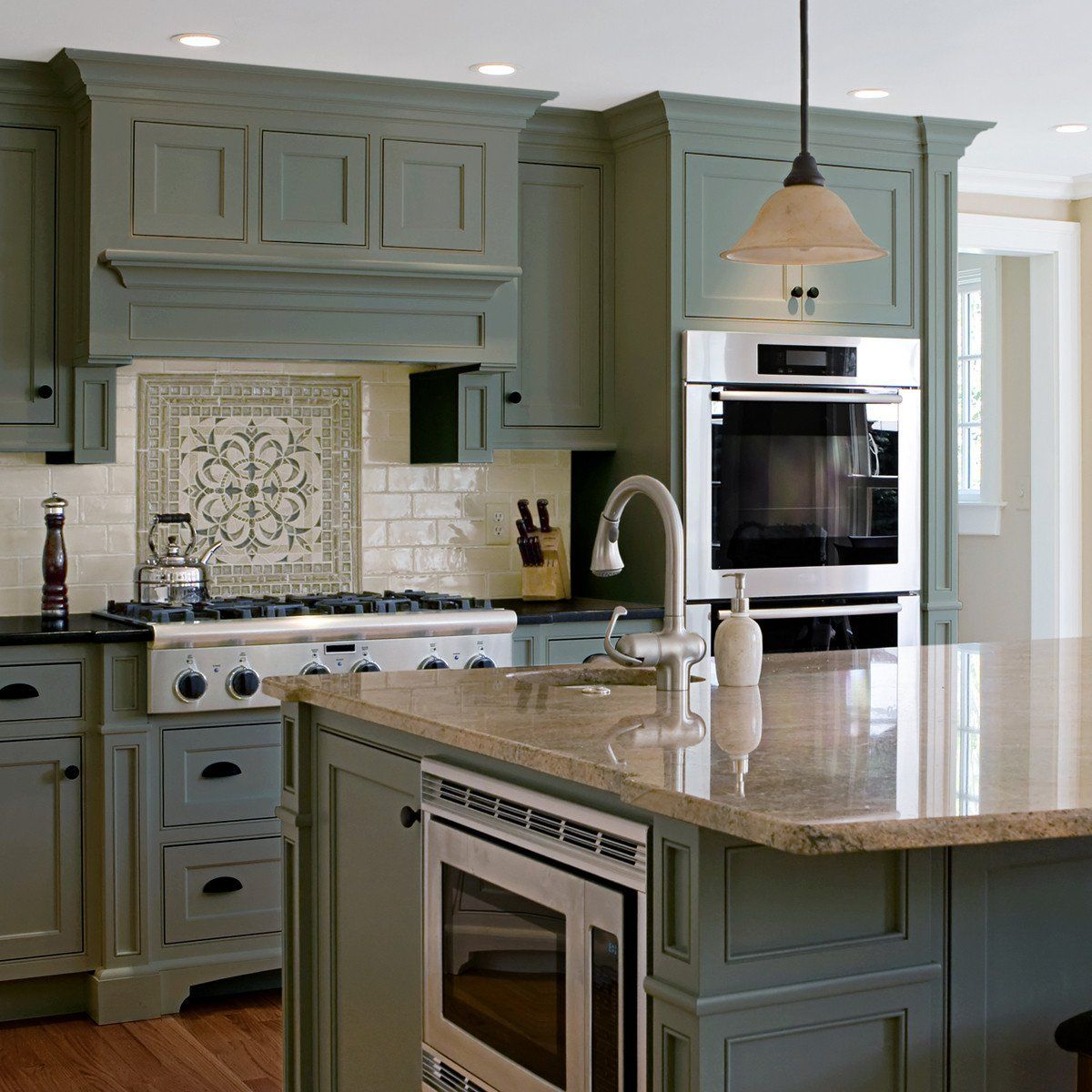 Green Painted Kitchen Cabinets: Nuvo Olde Sage Cabinet Paint Kit