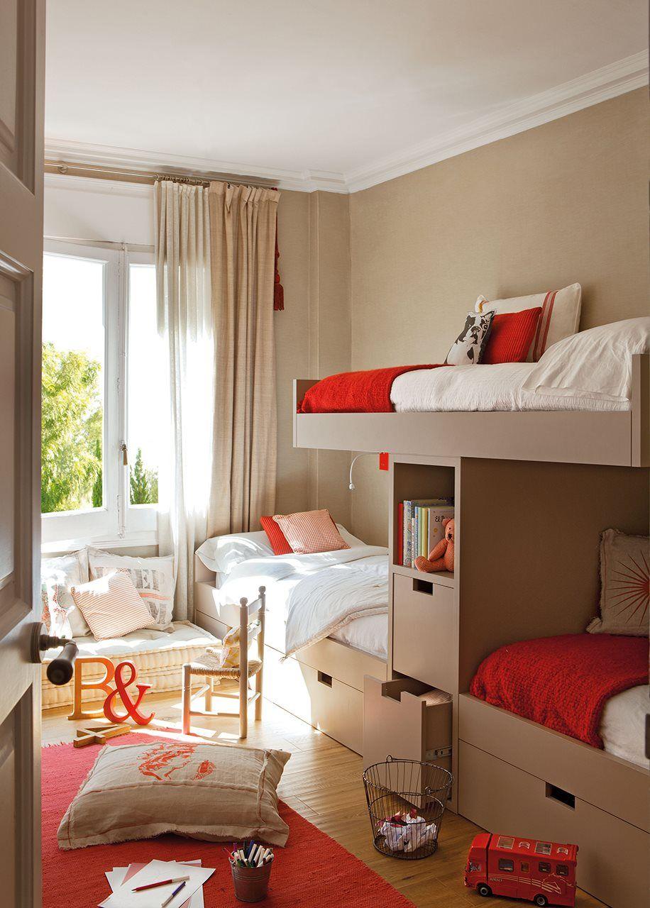 10 ideas para pintar la habitaci n de los ni os elmueble - Habitacion pequena nina ...