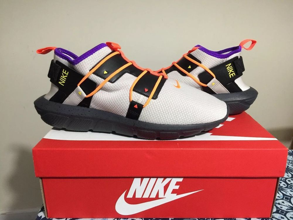 30ceeb3d6f0 Men s Nike Vortak Casual Shoes Desert Sand Total Orange Black AA2194 ...