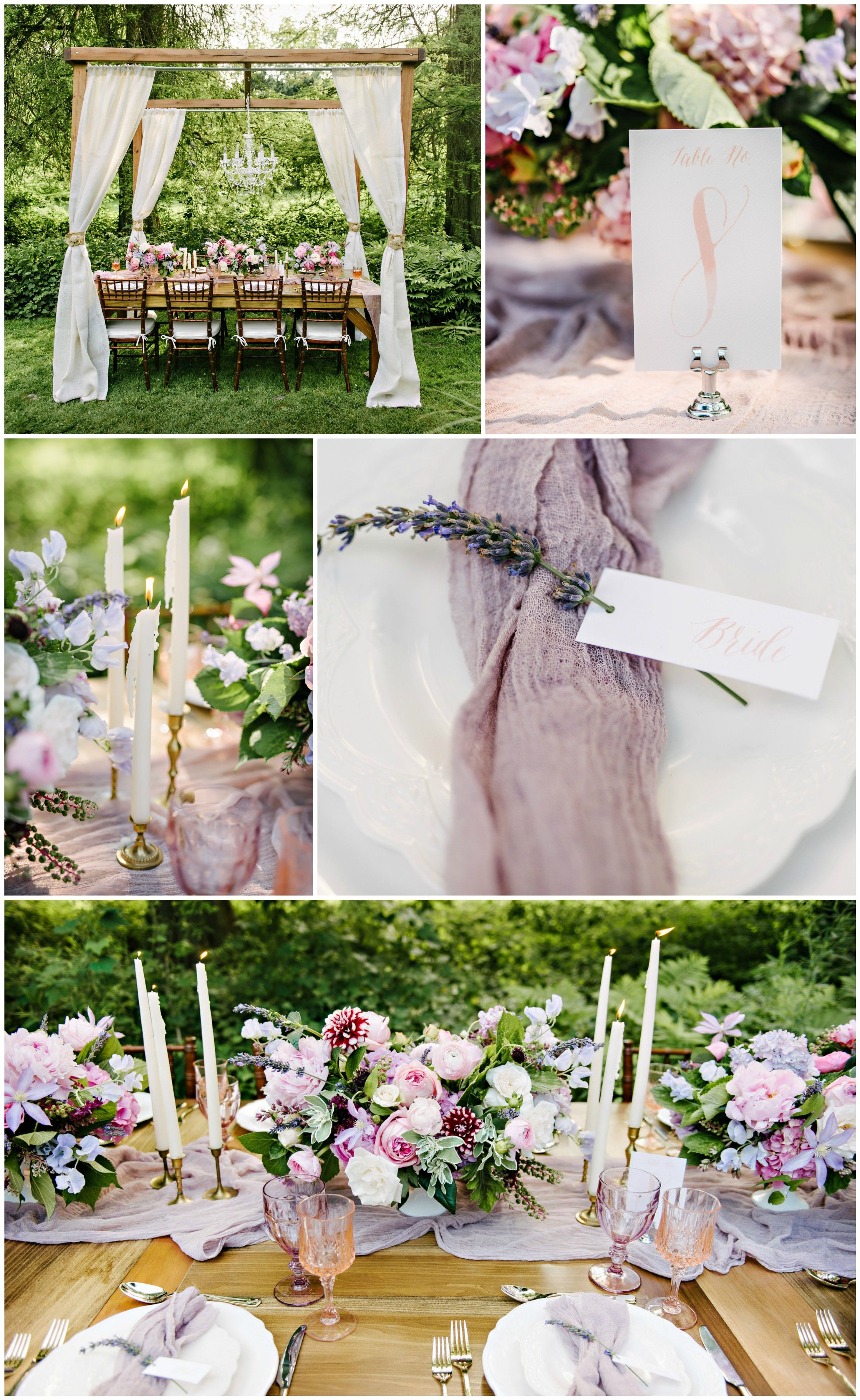 The Smarter Way to Wed | Pink table, Floral centerpieces and Garden ...