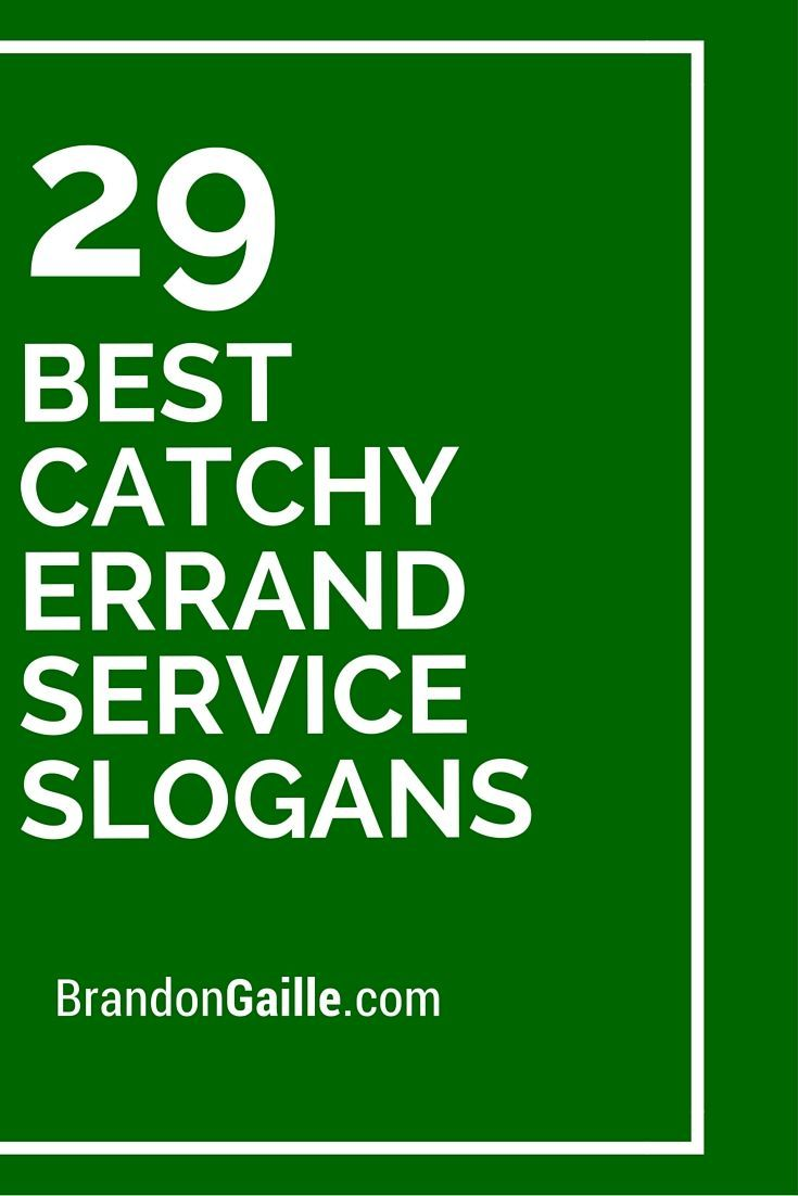 29 best catchy errand service slogans business slogans business names catchy business name ideas