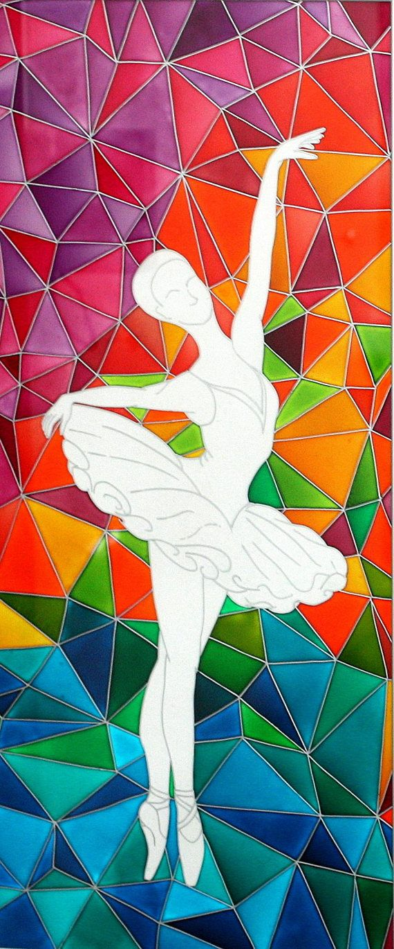 Ballerinas Contemporary Painting on Glass-Original Dancer ...