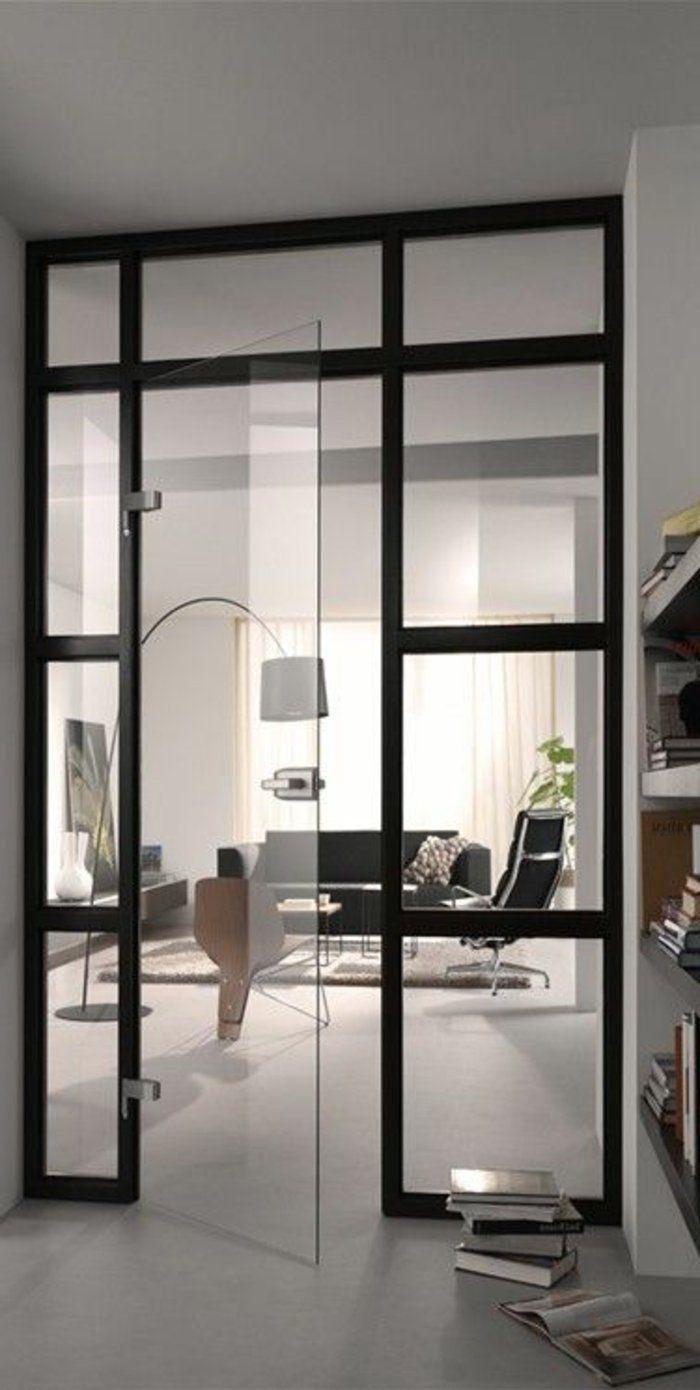 mobile raumteiler mit glastur einrichten design. Black Bedroom Furniture Sets. Home Design Ideas