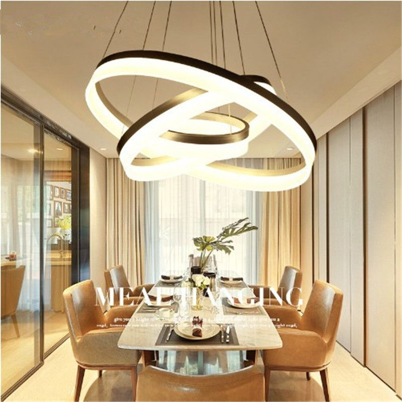 Modern LED Pendant lights For Dining room Bedroom Pendant Lamp Round