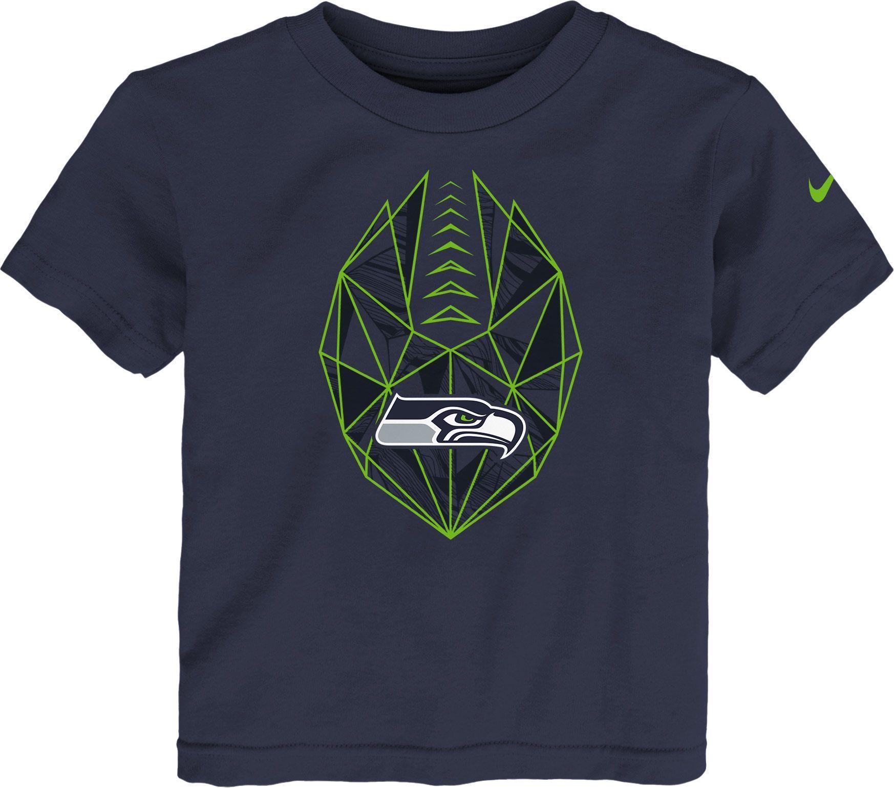 Nike Boys' Seattle Football Icon Navy TShirt, Blue in