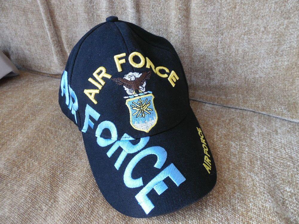 Air Force Baseball Cap Hat Embroidered Logo Adjustable Velcro back #Unbranded #BaseballCap