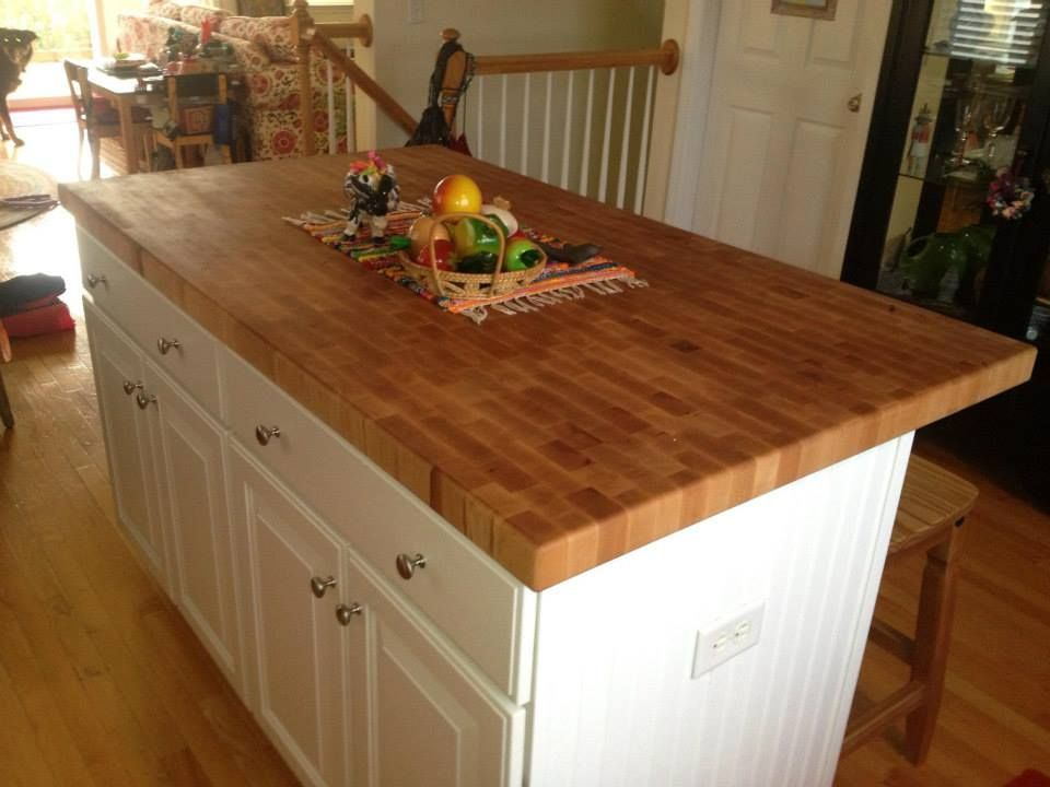 End Grain Butcher Block Island top made by Anchor Hardwoods