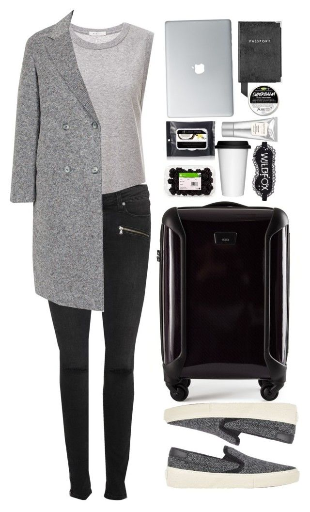 """""""Permanent Vacation """" by vanessasimao1999 ❤ liked on Polyvore featuring Tumi, 6397, Paige Denim, T By Alexander Wang, Laura Mercier, Yves Saint Laurent, Sagaform, Aspinal of London, Alöe and Wildfox"""