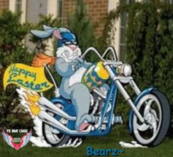 Easter Biker Rabbit Motorcycle Easter Yard Art Easter