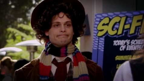 SPENCER REID IS DRESSED AS THE FOURTH DOCTOR GUYS.