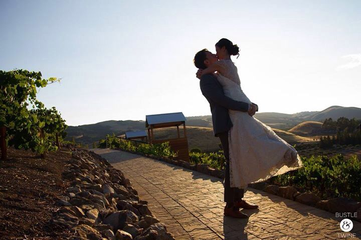 Love this wedding at Viansa in Sonoma! Featuring Reverend Tan and Bustle & Twine.