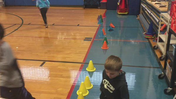 """Kevin Tiller on Twitter: """"Cone flipping tag game. If tagged, go to """"cone zone"""" and flip to get back in game. 3 flips maximum. #physed https://t.co/yPL35ZTRpb"""""""