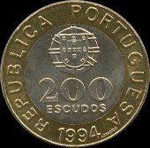 200 Escudos Bi-Metálicas ,1994