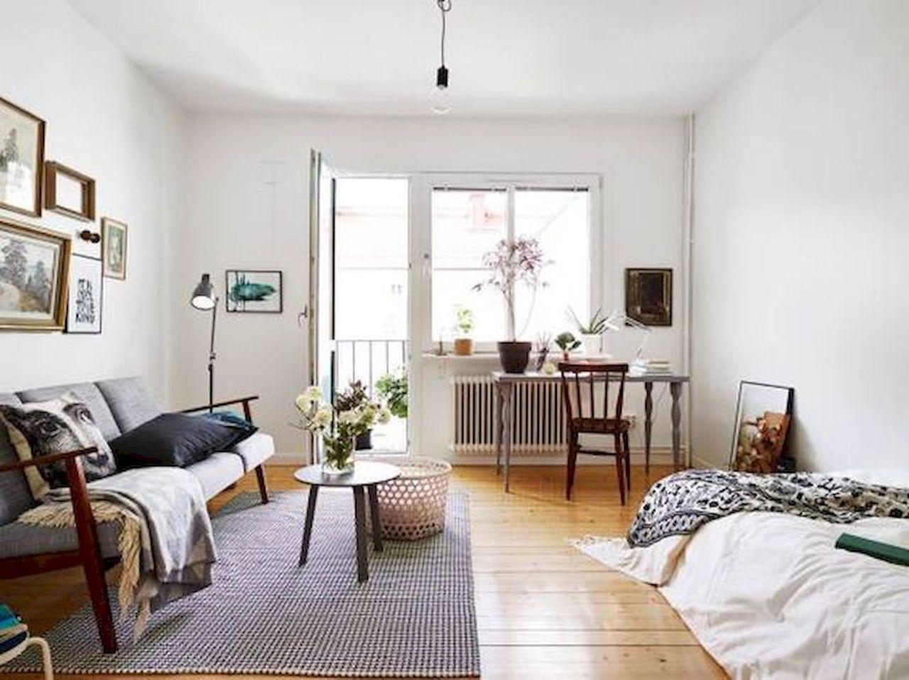 50 Stunning Minimalist Studio Apartment Small Spaces Decor Ideas