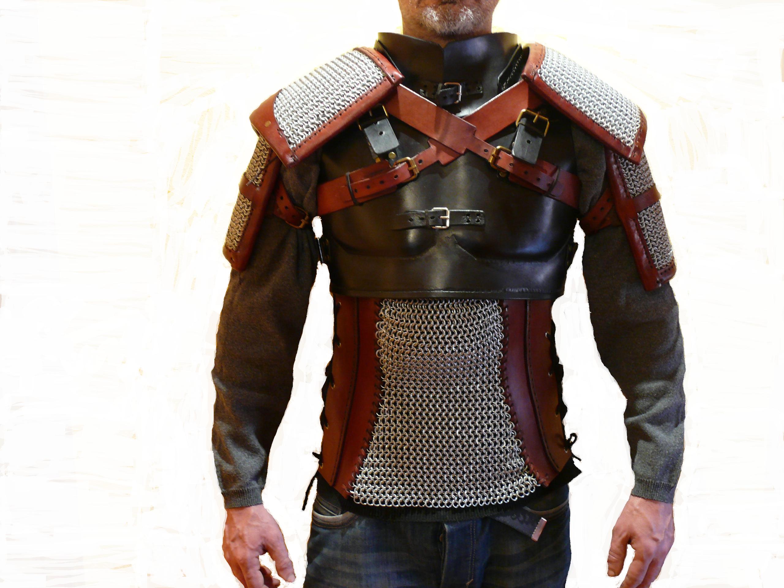 Realizada Armadura Rivia Witcher En De Geralt Cuero 3 Anillas Y QshdrxtC