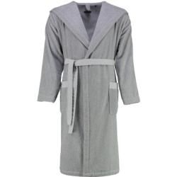 Photo of Marc O'Polo bathrobe unisex hood melange gray / white – L Marc O'Polo