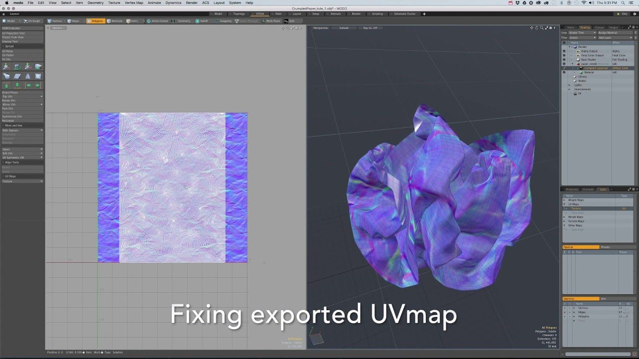 How to create crumpled paper on CLO3D and MODO #tutorial #free