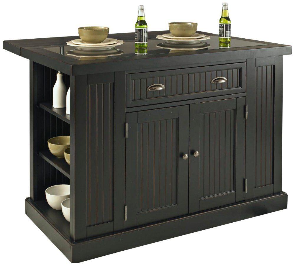 Amazon com home styles 5033 94 nantucket kitchen island distressed black finish