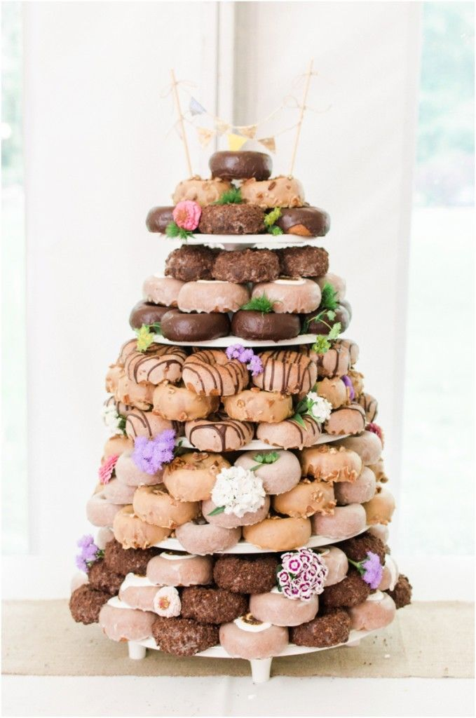 Wedding Donut Tower With Images Wedding Donuts Donut Wedding