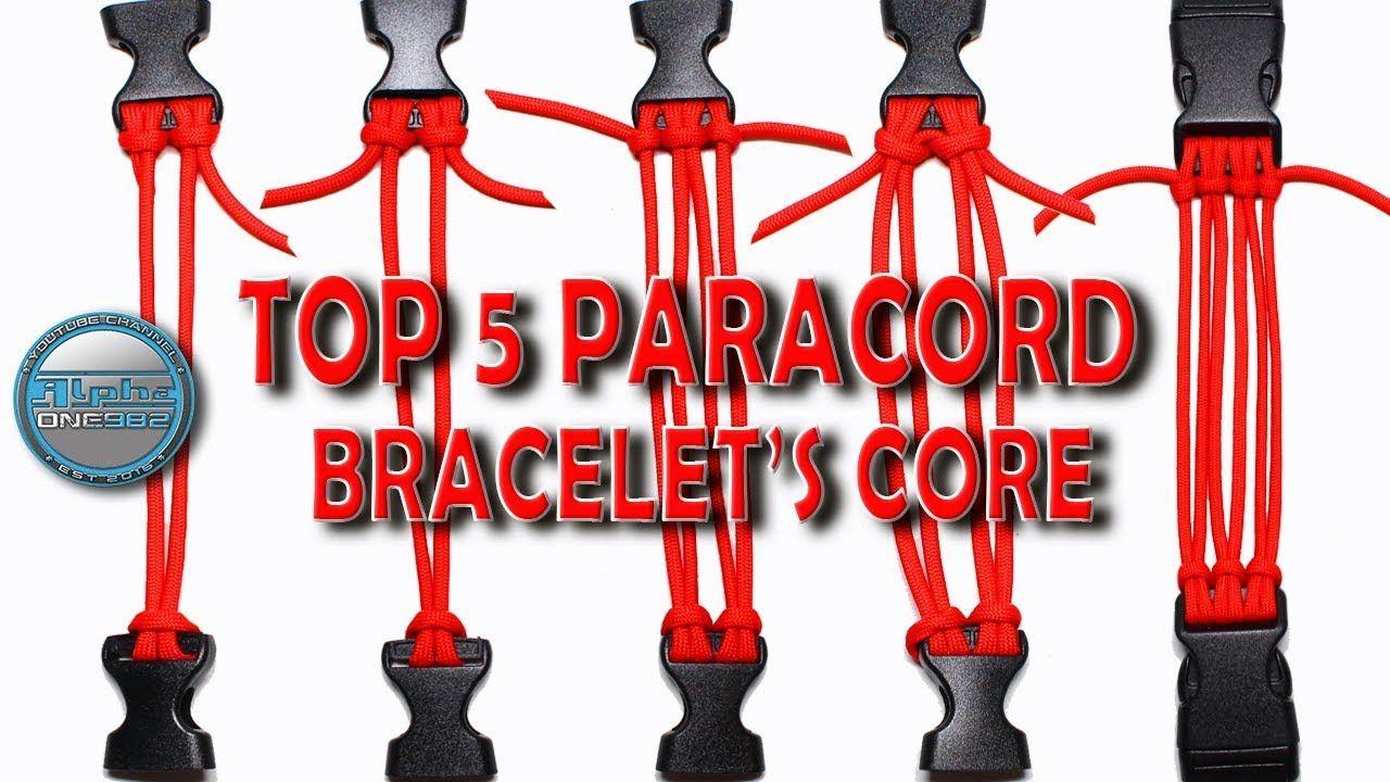 Top 5 Paracord Bracelets Core How To Make Paracord Bracelet Core World Paracord Paracord Bracelets Paracord Bracelet Tutorial