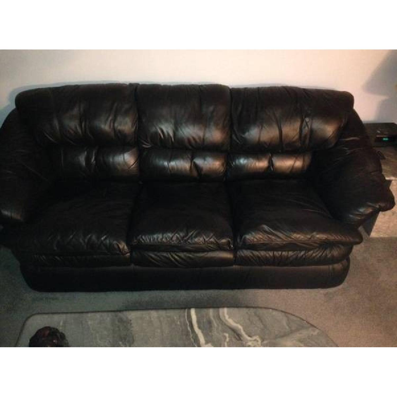 LeatherTrend Black Leather Sofa | Sofas | Black leather sofas ...