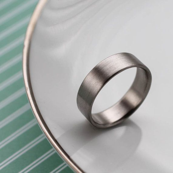 7x1 25mm Flat Men S Wedding Band Recycled Eco Friendly Ethical