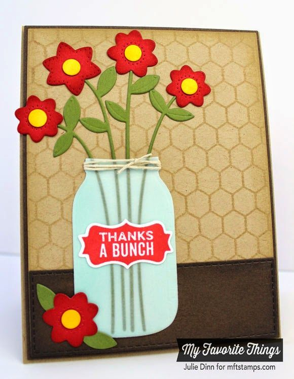 Mason Jar Labels, Mini Chicken Wire Background, Fresh Cut Flowers Die-namics, Mason Jar Die-namics - Julie Dinn #mftstamps