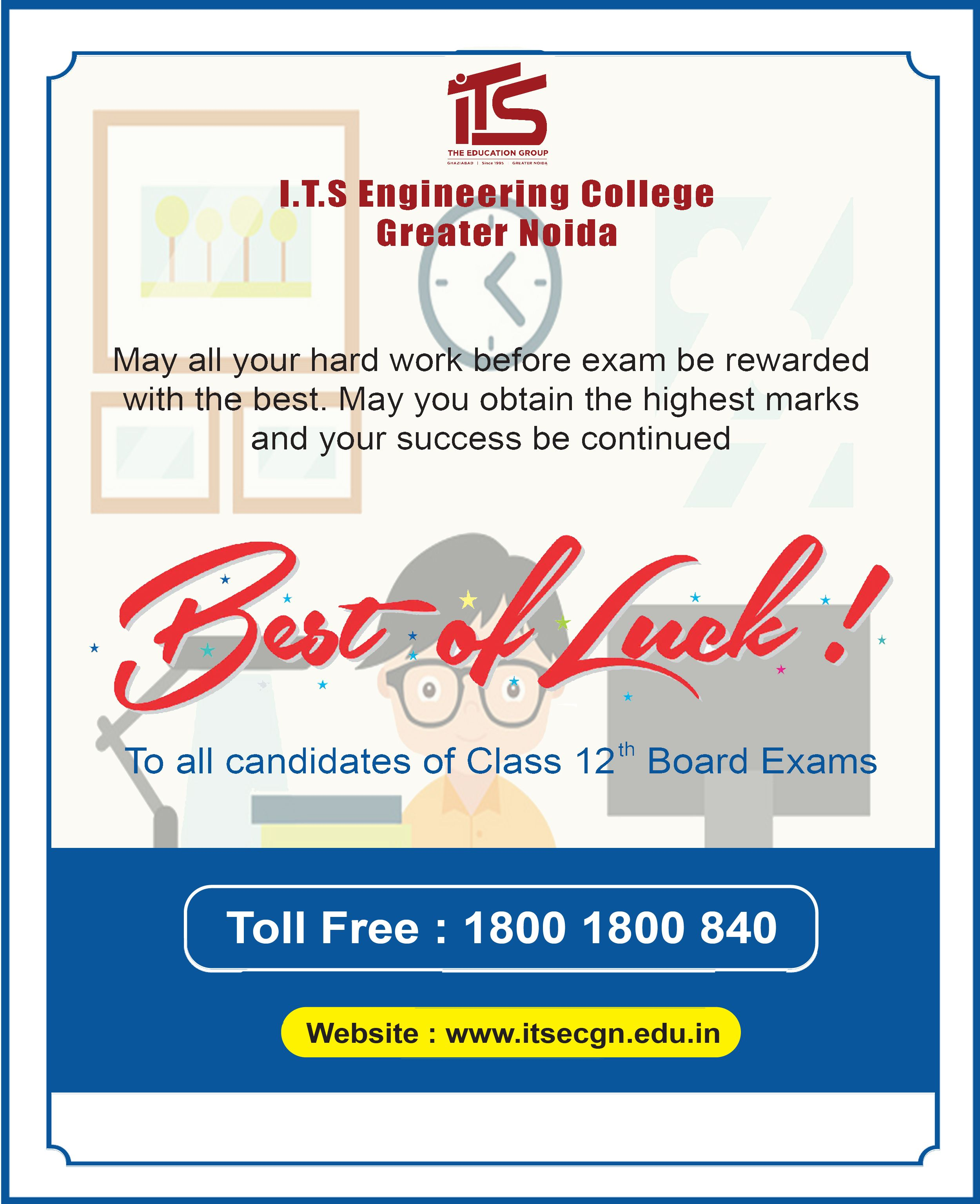 May all your hard work before exam be rewarded with the best