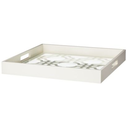 White Decorative Tray Adorable White Lattice Decorative Tray $30  Home Goods  Pinterest Inspiration