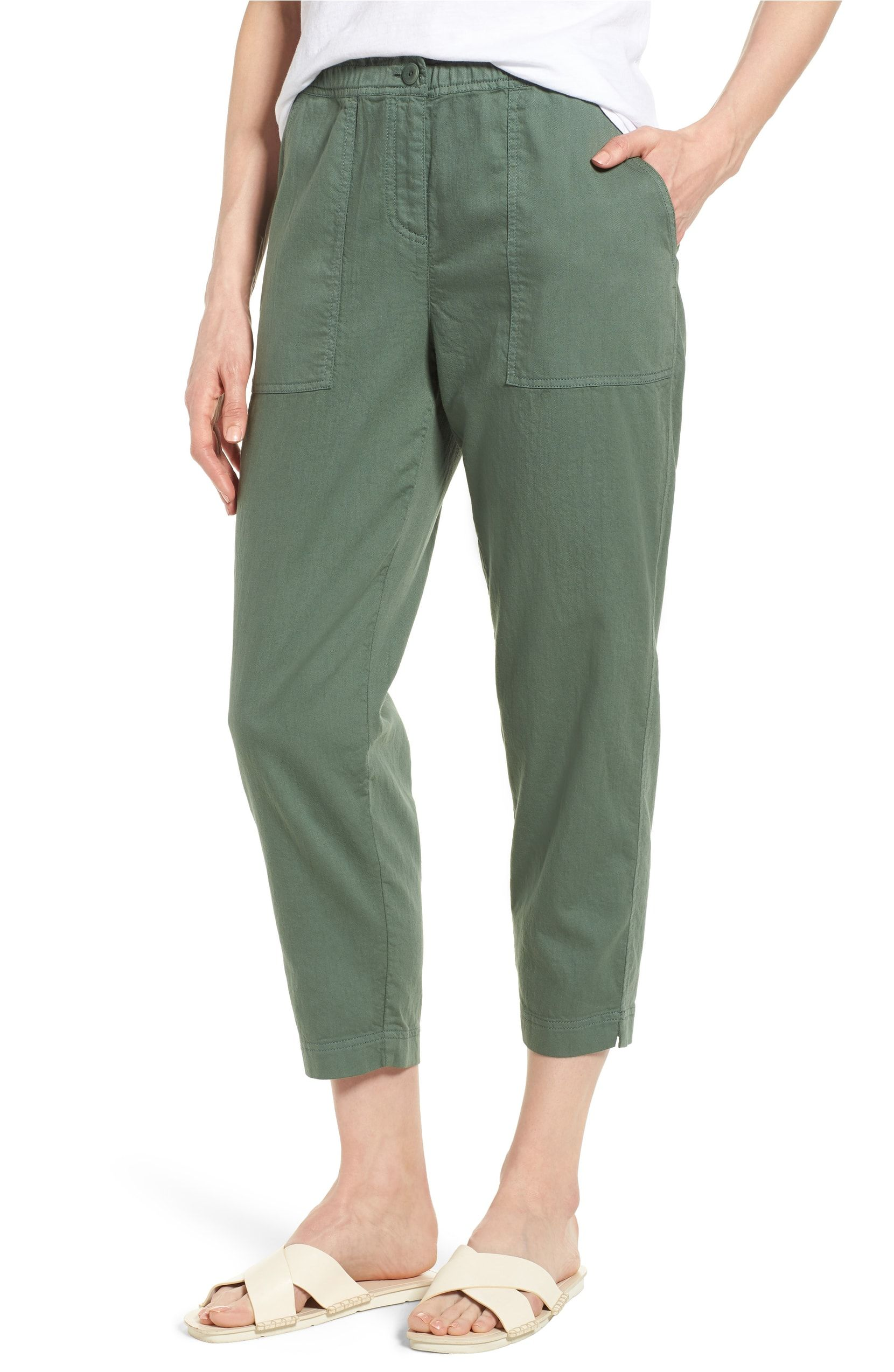 d13e850f98 Tapered Organic Cotton Crop Pants