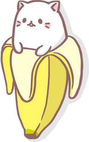 KWAII DRAWING BY ARTIST UNKNOWN.  Just some cute banana fun!! #banana www.twobnanasart.com
