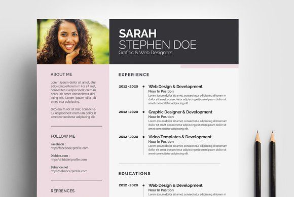 Designer Resume Cv Template  Resumes  Resume Template