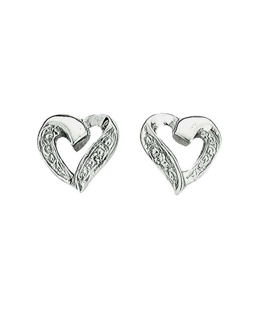 3ef2ed7d5 Buy 9ct White Gold Diamond Heart Stud Earrings at Argos.co.uk - Your Online  Shop for Ladies' earrings.