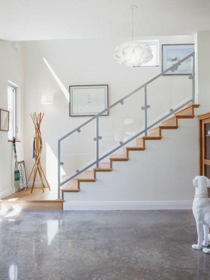 Découvrir le sol en béton ciré dans beaucoup de photos! Salons - Raccord Peinture Mur Plafond