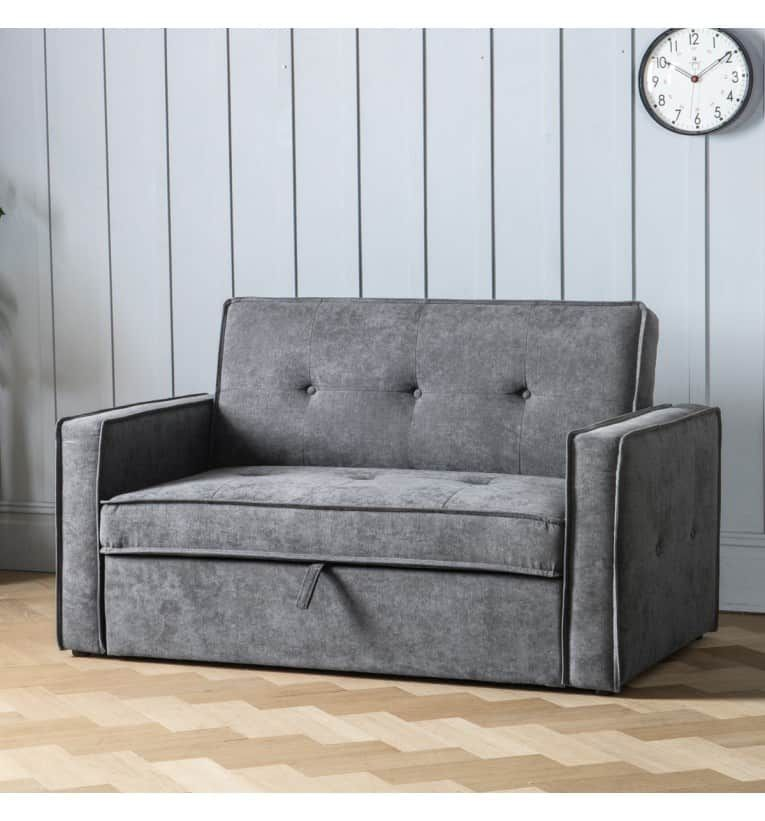 Vestra Sofabed Dove Grey This Contemporary Sofabed Features A 3 Step Easy Fold System The Ves Contemporary Sofa Bed Dove Grey Furniture Sofa Bed With Storage