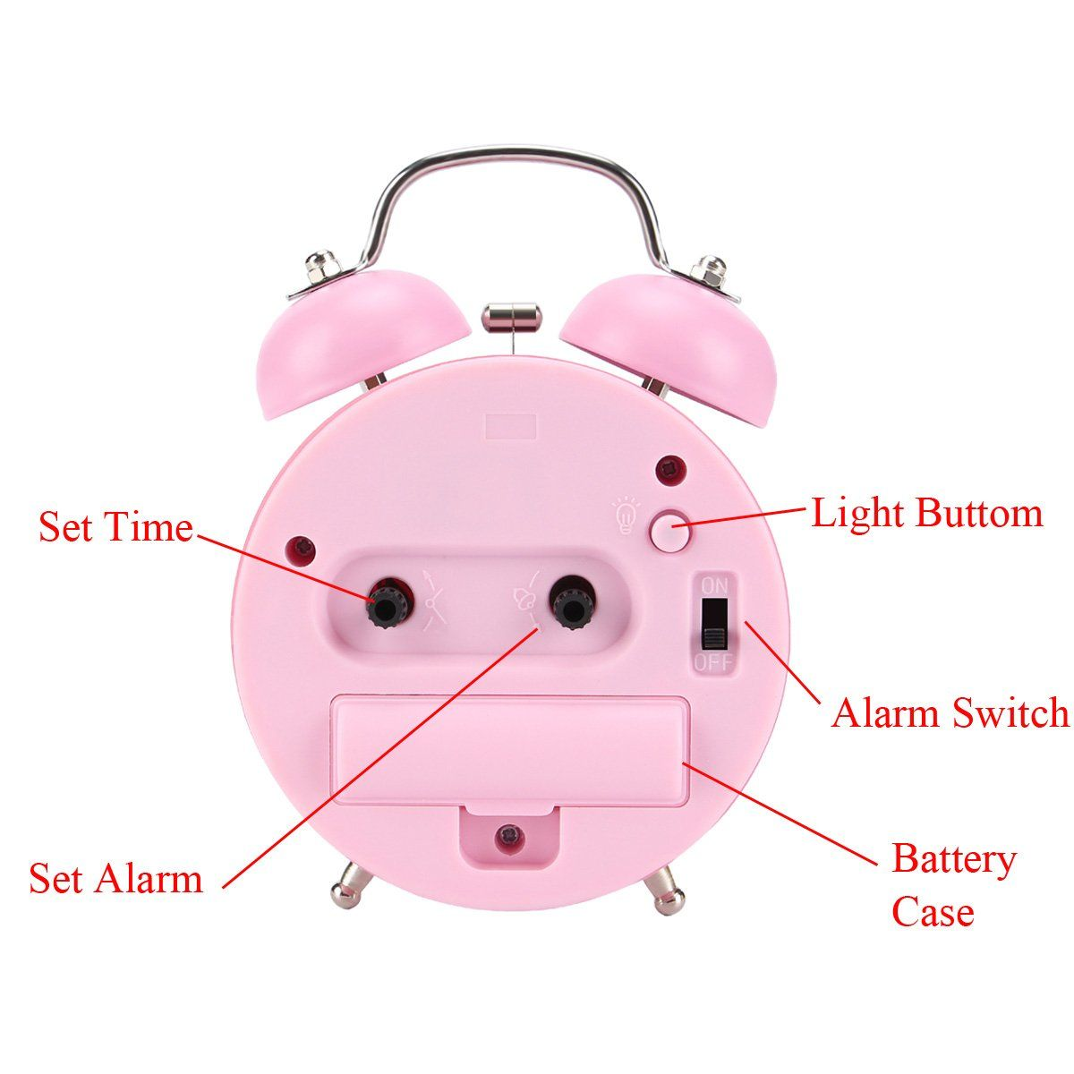 Alarm Clock For Kids 2018 Upgrade 4 9 Twin Bell Alarm Clock No Ticking Movement Cute Alarm Clock For Gir Kids Alarm Clock Cute Alarm Clock Loud Alarm Clock