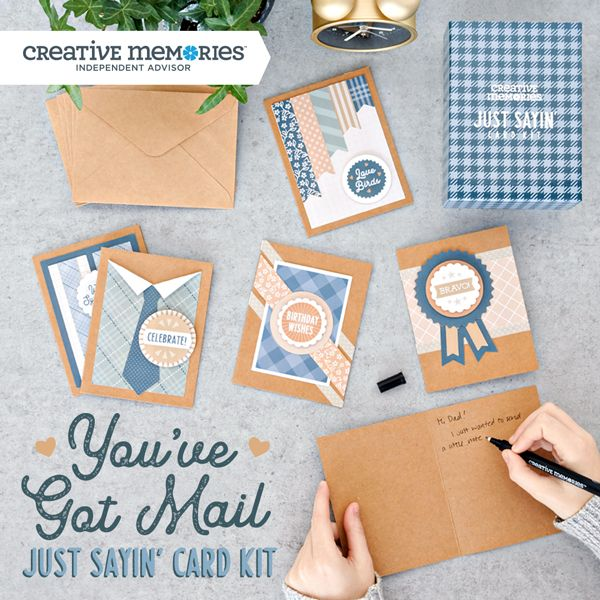 this greeting card kit comes with all the pieces you need