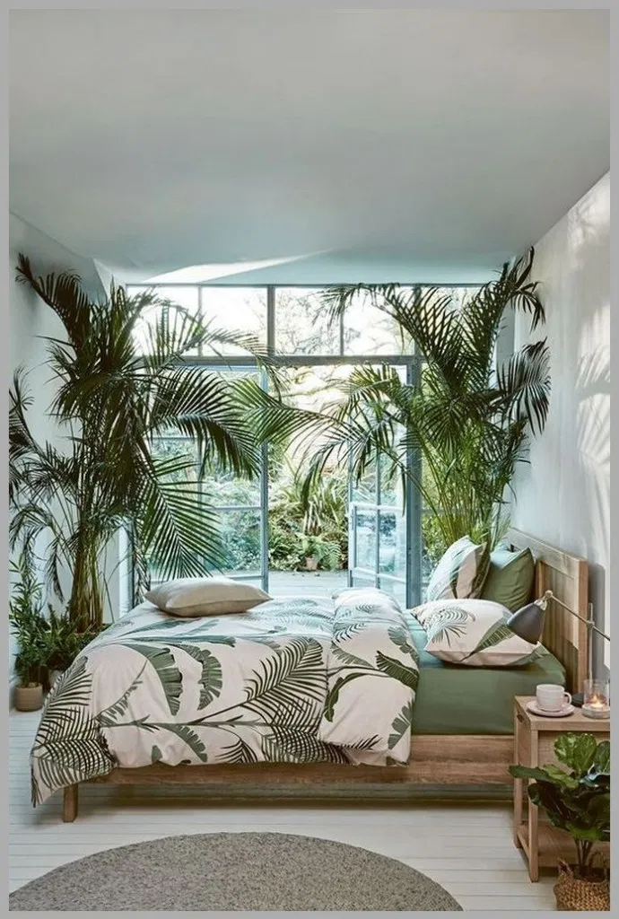 30 Cozy Relaxing Tropical Bedroom Colors Ideas You Have To See Bedroom Tropicaldecor Tropical Bedrooms Minimalist Bedroom Design Large Living Room Furniture