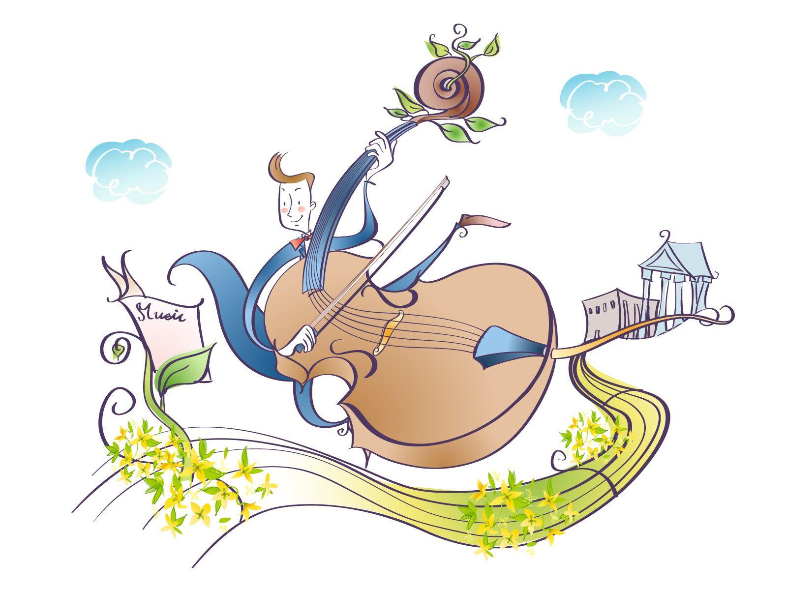 Открытки, смешная картинка о музыкальных инструментах