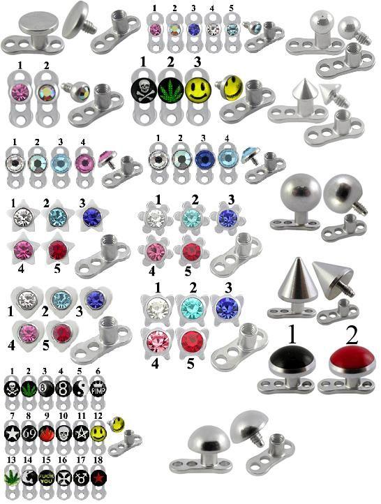 Micro Dermal Jewellery : micro, dermal, jewellery, Dermal, Anchors, Piercing, Jewelry,, Piercing,, Anchor
