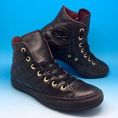 converse leather mujer negras