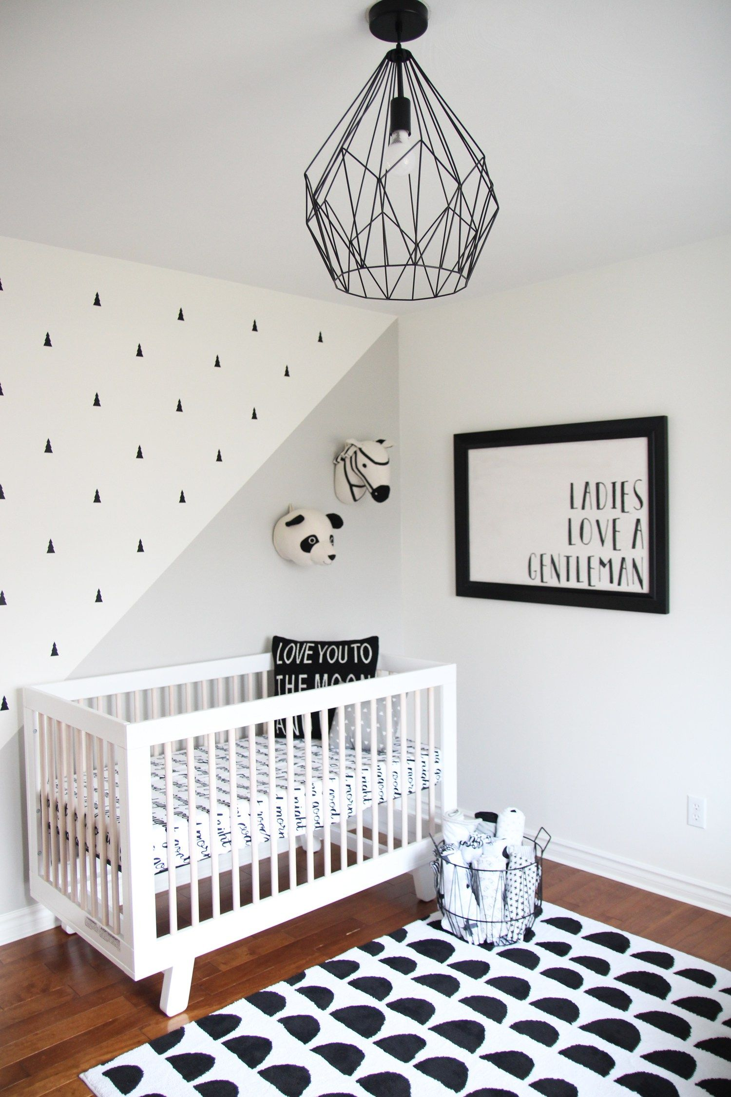 Monochrome Baby Boy Nursery Nursery Baby Room Girl Room White