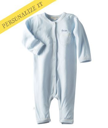 60af17db8434 Personalized Baby Boy Softest Romper - Baby Blue