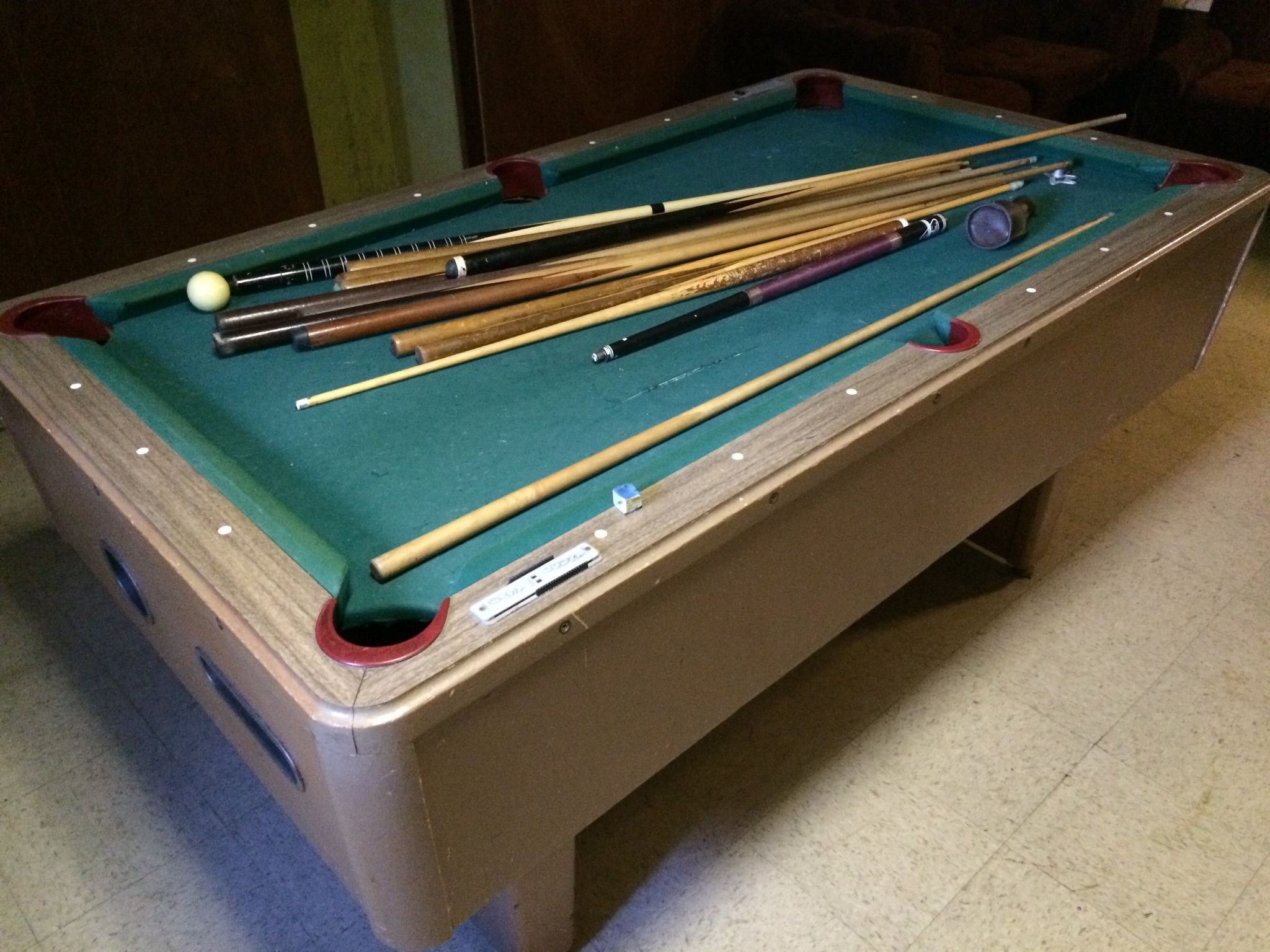 6u0027 Bar Style Pool Table Genuine Slate.