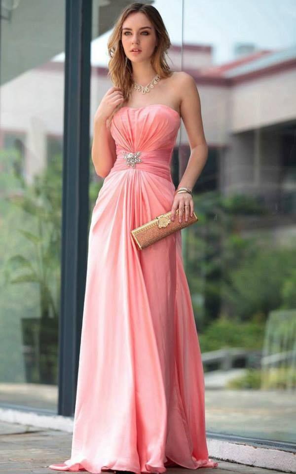 Hermosa Prom Vestido Rosa Uk Ideas Ornamento Elaboración Festooning ...