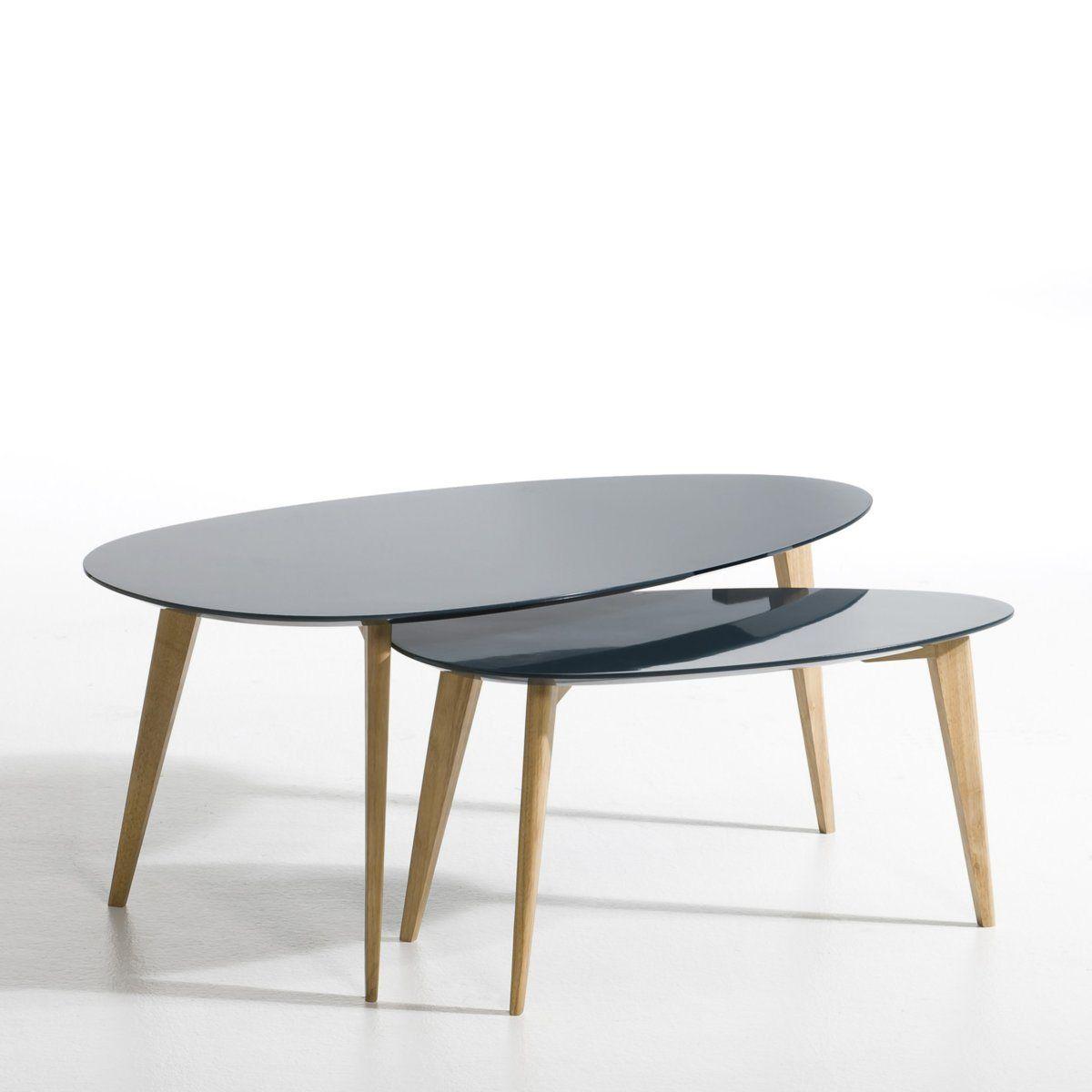 Table Basse Flashback Laqué Et Hévéa   AM PM La Redoute